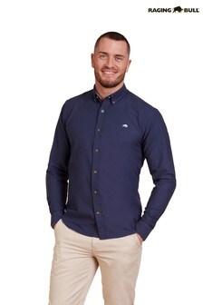 Raging Bull Blue Long Sleeve Signature Oxford Shirt