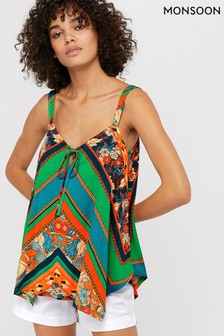 Monsoon Orange Gemima Jersey Print Cami