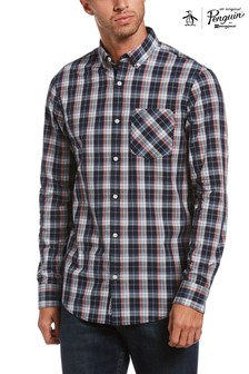 Original Penguin Blue Multi Plaid Shirt