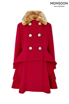 Monsoon Children Red Charlotte Coat