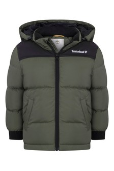 Boys Khaki Puffer Jacket