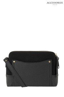 Черная сумка с длинным ремешком Accessorize
