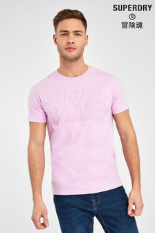 Superdry Lily Embroidered Pastel T-Shirt