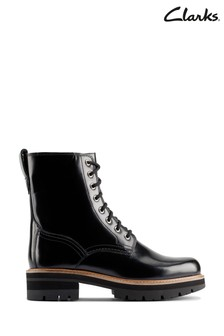 Clarks Black Leather Orianna Hi Boots