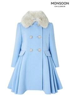 Голубое детское пальто Monsoon Aurora