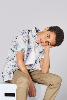 Floral Short Sleeve Shirt (3-16yrs)
