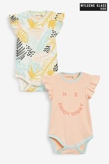 Myleene Klass Baby 2 Pack Ruffle Bodysuits