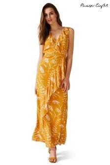 Phase Eight Yellow Natala Print Maxi Dress