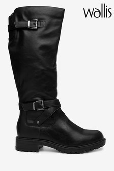 Wallis Hammock Black Knee Faux Fur Cold Weather Boots