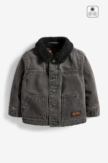 Borg Lined Denim Jacket (3mths-7yrs)