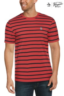 Original Penguin Red Breton Stripe T-Shirt