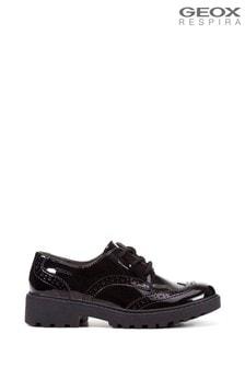 Geox Junior Girl's Casey Black Shoes