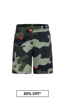 Neil Barrett Boys Green Cotton Shorts
