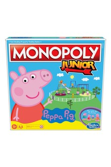 Monopoly Junior: Peppa Pig™ Edition Board Game For 24 Players, Indoor Game For Kids Ages 5 And Up
