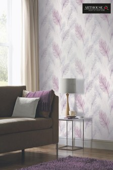 Arthouse Whisper Leaves Wallpaper