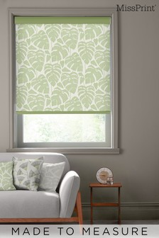 Guatemala Olive Green Made To Measure Roller Blind by MissPrint