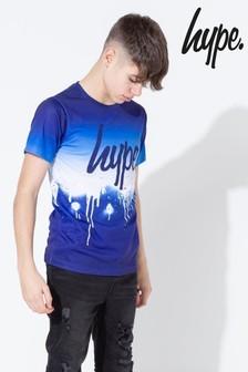 Hype. Blue Drip Fade Kids T-Shirt