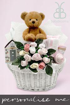 Babyblooms Pink Charlie Bear's New Baby Gift Basket