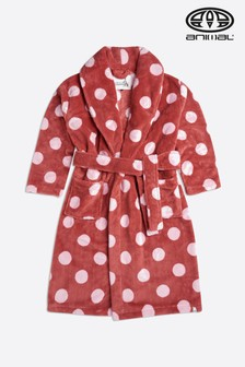 Animal Mineral Red Spottey Dressing Gown
