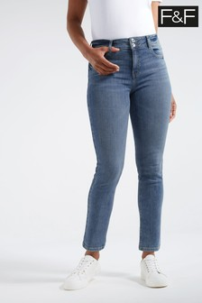 F&F Mid Wash Authentic Slim Jeans