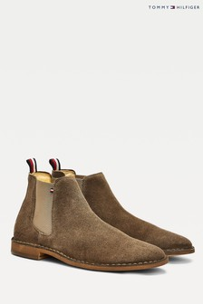 Tommy Hilfiger Brown Casual Suede Chelsea Boots
