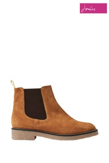 Joules Brown Chepstow Casual Suede Chelsea Boots