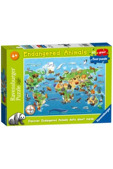 Ravensburger Endangered Animals, 60pc Giant Floor Jigsaw Puzzle