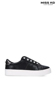 Miss KG By Kurt Geiger Black Kassie Trainers