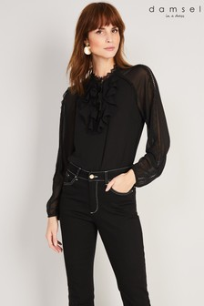 Damsel In A Dress Black Zania Blouse