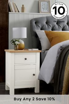 Malvern 1 Drawer Storage Bedside Table