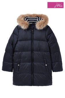 Joules Blue Touchline Padded Coat With Removable On Hood