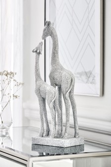 Diamanté Effect Giraffe Sculpture