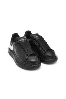 Unisex Black 100% Leather Trainers