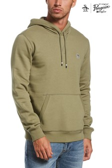 Original Penguin Green Sticker Pete Fleece Hoodie