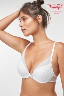 Triumph® White Darling Spotlight Wired Half Cup Push Up Bra