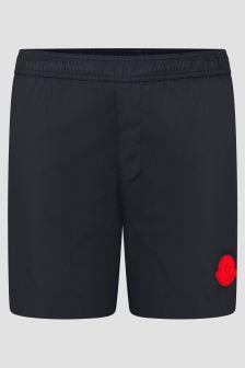 Moncler Enfant Boys Navy Logo Swim Shorts