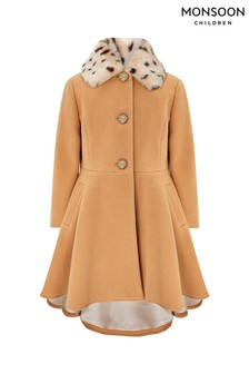 Monsoon Children Camel Harriet Coat