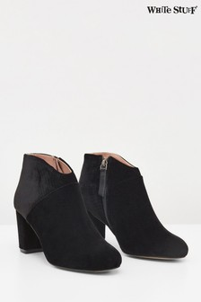White Stuff Black Lottie Velvet Shoe Boots
