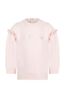 Givenchy Kids Baby Girls Pink Cotton Sweat Top