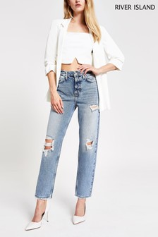 River Island Mid Authentic Straight Alien Jeans