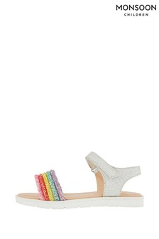 Monsoon Cassidy Rainbow Glitter Sandals