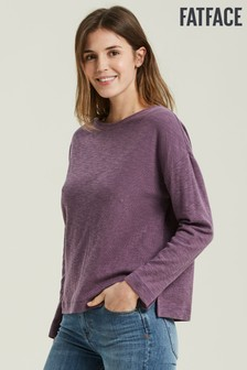 FatFace Purple Bailey Drop Shoulder Top