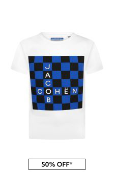 Jacob Cohen Boys White Cotton T-Shirt