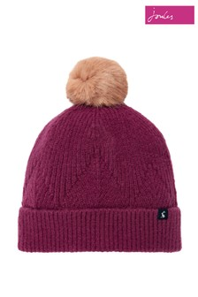 Joules Purple Thurley Knitted Hat