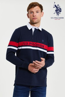 U.S. Polo Assn Blueplaced Stripe Rubgy Shirt