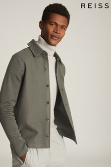 Reiss Wishaw Wool Blend Overshirt