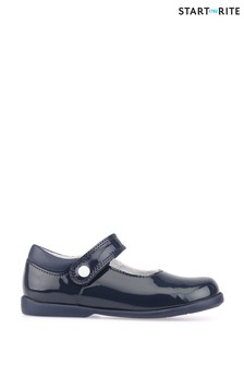 Start-Rite Slide Navy Patent Shoes