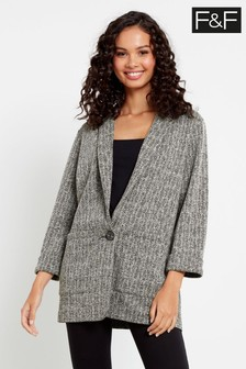 F&F Grey Textured Jacket