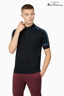 Ben Sherman Black Sleeve Stripe Polo
