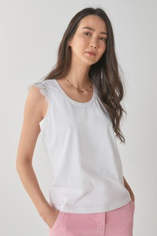 Broderie Shell Sleeveless Top